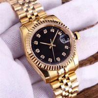 lüks kendinden sargı saatler toptan satış-Adam tasarımcı izle lüks erkek kadın aşıklar saatler elmas gümüş altın otomatik mekanik hareketi kendinden rüzgar süpürme ladys saatı