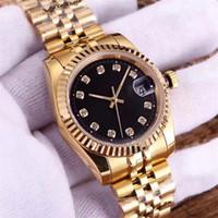 diamant-armbanduhr großhandel-Luxuxuhrmännerfrauengeliebte Entwerferuhren 5 Arten Diamant automatische mechanische Dame Armbanduhren Montre de Luxe