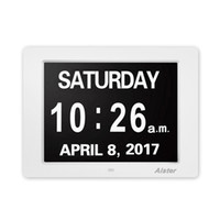 Wholesale digital frame remote control resale online - 8 Inch Digital Alarm Photo Frame LED Screen Simple Eletronic Photo Album With Remote Control Support Clock Photo Video
