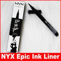 ingrosso cosmetici per inchiostri-NYX Epic Ink Liner nyx Black Eyeliner Matita Headed Makeup liquido Colore nero Eye Liner Cosmetici impermeabili di lunga durata