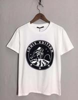 galáxia camisetas 2xl venda por atacado-19ss primavera verão europa de luxo de paris galaxy astronauta t-shirt das mulheres dos homens de moda clothing legal skate camiseta casual tee