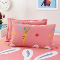 rosa bettwäsche drucken großhandel-Sanding Printing Kissenbezüge Karottenblume Streifen Blau Rosa Kissenbezug Schlafzimmer Mode Bettwäsche Artikel Kissenbezug 3 9geD1