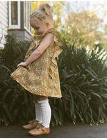 vestidos de niña estilo vintage al por mayor-Pequeños bebés vestidos de flores ropa de toddle vestido belleza verano niños niños sin mangas estilo vintage nueva moda hermana regalos