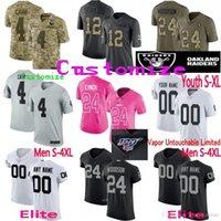 jordy nelson jersey xl venda por atacado-Elite 100 camisa Raider personalizado Homens mulheres jovens Johnathan Abram longo Jacobs Carr Marshawn Lynch Jordy Nelson Bo Jackson Clelin Ferrell