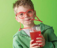 Wholesale fun flexible straws resale online - Fun Soft Plastic Straw Funny Glasses Shape Flexible Drinking straw Toys Party Joke Tube Tools Kids Baby Birthday Party Toys Colors