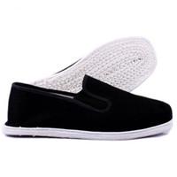 chinês algodão sapatos baixos venda por atacado-Unisex Sapatas Dos Homens de Verão Alpinistas Chineses Sola de Algodão Casuais Sapatos de Lona Flats Tamanho grande 35-45