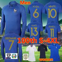 camisas do el venda por atacado-França 2019 Special Edition camisa de futebol dos homens do Centenário 19 20 mbappe GRIEZMANN 100º kante ZIDANE Camisa de manga curta de futebol