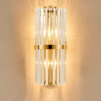 Wholesale bedside wall lamps resale online - Modern Crystal Wall Lamp Luxury Wall Light Wall Lighting Crystall Sconce for Bedside Porch Hallway with E14 Socket