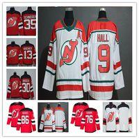 parche de hielo caliente al por mayor-2019 New Jersey Devils Hockey Jack Hughes P.K. Subban Taylor Hall Nico Hischier Martin Brodeur Cory Schneider Greene Camisetas alternativas baratos