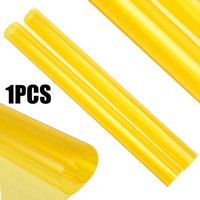 vinil de farol amarelo venda por atacado-Mayitr 60x30Cm Amarelo Farol Do Carro Luz de Nevoeiro Filme de Vinil Auto Matrícula Taillight Vinyl Smoke Film Folha Adesivo DIY decoração