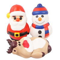 Wholesale big santa claus doll for sale - Group buy 3 Styles Squishy toys color printing Santa Claus snowman reindeer dolls pu simulation animal squishies kids squeezing toys