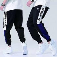 jogger für männer großhandel-Mode designer hosen für herren marke track hosen jogger mit ad buchstaben luxus männer jogginghose kordelzug dehnbar