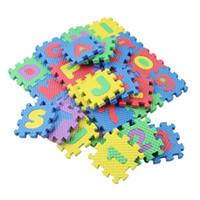 pädagogische teppiche großhandel-36 teile / satz Kinder Alphabet Buchstaben Ziffern Puzzle Bunte Kinder Teppich Spielmatte Weichen Boden Krabbeln Puzzle Kinder Pädagogisches Spielzeug