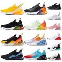 chaussures de basketball arc en ciel achat en gros de-Nike air max 270 chaussures de basketball pour hommes BHM Chaussures de sport Blanc noir Chiffres Anniversaire Stuc Igloo baskets de designer multicolores