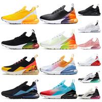 rose sportschuhe großhandel-Nike air max 270 Laufschuhe für Männer Triple Black weiß kaum Rose University Red Mint Green Grape Tiger Damen Sport Sneaker Trainer Schuhe Größe 36-45