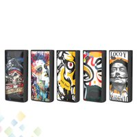 Wholesale mod micro usb resale online - Authentic Alameda Box Mod Colorful Drawing mah Adjustable Voltage Preheating Battery E Cigarette with Micro USB For Cartridge