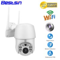 ip kamera kuppel wifi pfanne großhandel-1080P PTZ IP Kamera Wifi Outdoor Speed Dome Wireless Wifi Überwachungskamera Pan Tilt 4X Digital Zoom 2MP Netzwerk CCTV Überwachung