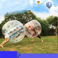parachoques inflable del cuerpo al por mayor-Deporte al aire libre inflable de la burbuja futbolín humano hámster Bola Traje 1,5 m pegatina de PVC cuerpo Loopy burbuja de fútbol bola de Zorb Venta
