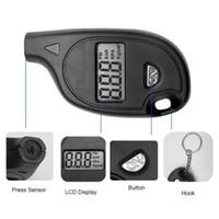 mini ekran oto. toptan satış-Oto Lastik Hava Basıncı Test Ölçer 3-150PSI Mini Dijital LCD Ekran Anahtarlık Tekerlek Test Araç Motosiklet Teşhis Aracı HHA69