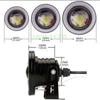 Wholesale universal projectors resale online - Yiastar Inch Projector COB LED Car Fog Light Halo Angel Eyes Rings DRL White V Road Fog Lamp Universal