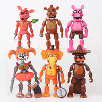 Wholesale freddy figure resale online - 6 Styles Set Five Nights At Freddy Action Figures Doll Toys cm PVC High Quality Removeable Cartoon Toys Kids Gift Tabletop Decoraton L411