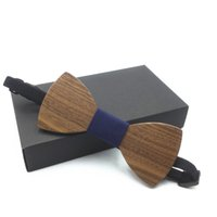 Wholesale marriage tie resale online - HOT SALE men s Wooden Bow Tie Male Solid Color Marriage Bow Ties For Men Butterfly Cravat Wood Bow