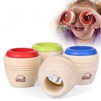 juguetes prismáticos al por mayor-Juguete de madera de alta calidad efecto de caleidoscopio mágico para niños bebé observación de prisma múltiple del mundo exterior de juguetes para niños