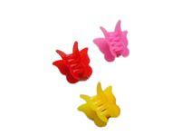 çocuklar için saç pençeleri toptan satış-Çocuklar için karışık Renk kelebek klipler Plastik Kelebek Mini Saç Pençe Klipler Kelepçe Çocuklar için hediye renkli