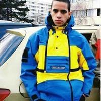 küçük sarı adam toptan satış-16FW Dik Teknoloji Kapüşonlu Ceket Ortak Adı Küçük Sarı Adam CeketlerErkekler Ve Kadınlar Yüksek Kalite Ceket HFBYJK129