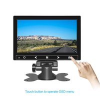 Wholesale lcd cctv monitor resale online - 7 quot x480 Button Touch LCD Mini Monitor Computer TV with HDMI VGA Video Audio Input for Home security Display CCTV Car Rearvie