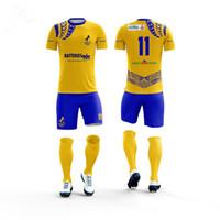jersey china fábrica venda por atacado-China fábrica por atacado sublimação camisa de futebol uniforme para homens Dry fit confortável futebol jersey