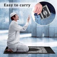 Wholesale pocket prayer mats resale online - Muslim pilgrimage blanket Ramadan Islamic and Muslim Travel Prayer Mats Compass Pocket Size Tote Bags