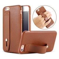 kickstände für handys großhandel-Neue Mode Tasche für Iphone xs max xr x 8 7 6 plus Handytasche mit versteckter Lederbeschaffenheit für den Ständer