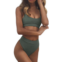 Wholesale wholesale high fashion swimwear for sale - Women s Swimming Suit Sexy Bikini Swimsuit Women Pure Color Fashion Push Up Padded Bra Beach Bikini Set Swimsuit Swimwear