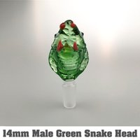 Wholesale pipe snakes for sale - Group buy Snake Glass Bowls of mm mm Male With Handle Colored Smoking Bong Bowls Piece For Glass Water Pipes Bongs Dab Rigs