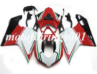 Wholesale 1198s fairing resale online - New ABS fairings Kits fit for DUCATI EVO s s injection mold fairing Custom Cool Red Green