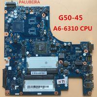 dizüstü bilgisayar test edildi toptan satış-PALUBEIRA lenovo G50-45 laptop Anakart için ücretsiz nakliye A6-6310 CPU ile ACLU5 / ACLU6 NM-A281 100% test