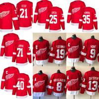 Wholesale steve red resale online - 2018 Detroit Red Wings Hockey Jersey Pavel Datsyuk Justin Abdelkader Steve Yzerman Larkin Howe Henrik hockey Jerseys