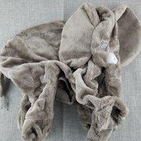 riesen-spielzeug gefüllt elefanten großhandel-6 Farbe grau Riesen Elefant Plüschtier Haut Stofftier Haut Baby Kinder Baby Kissen ohne gefüllte 30/40 / 60cm