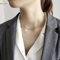 küçük bilyalı kolye toptan satış-% 100 925 Gümüş Takı Küçük Yuvarlak Top Zincir gerdanlık kolye Flyleaf Basit Kişilik Moda Kısa kolye Kadınlar