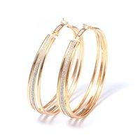 ingrosso colore argento opaco-Orecchini a cerchio alla moda e semplici da donna di design per donne, ragazze