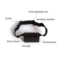 Wholesale bark collars dogs resale online - New Adjustable Anti Barking Electric Dog Collar Training Control Dogs Automatic Voice Activated No Control Barking Dog Training Obedience