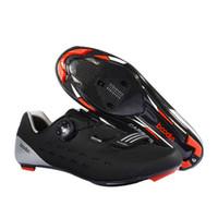 волоконно-углеродный велосипед оптовых-Ultralight Carbon Fiber Cycling Road Shoes Breathable Men Auto-Lock Road Bike Bicycle Shoes Athletic Racing Cycle Sneaker