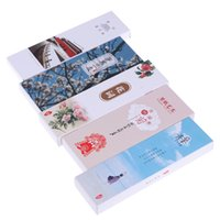 chinese style lesezeichen großhandel-30pcs / lot nette Kawaii Papierbookmark Weinlese-chinesische Art-Buch-Kennzeichen für Kinder Schulmaterial neu
