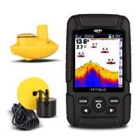 localizador de peixe sonar venda por atacado-FF718LiCD 2.8inch Cor LCD Portátil Fish Finder 200 KHz / 83 KHz Dual Sonar Freqüência 328ft / 100 m Detecção Profundidade Finder (Plug EUA)