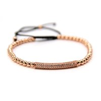 cores do bracelete do macrame venda por atacado-Anil Arjandas Moda Feminina Bar Pulseira em 4 cores com 4mm Rodada Beads Homens Trança Macramé Bar Pulseira pulseira