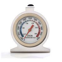 çevirme gıda termometresi toptan satış-Gıda Termometreler Et Termometre Stand Up Dial Dial Fırın Termometre Ölçer Gage Paslanmaz Çelik Ölçer Gage Mutfak Pişirme Aracı DBC VT1713
