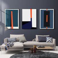 pinturas geométricas al por mayor-Pinturas modernas geométrico abstracto colorido impresiones del cartel nórdico pared de la lona imágenes del arte de la sala de oficina Decoración para el Hogar