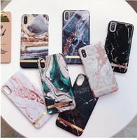 melhor plástico para casos de telefone venda por atacado-Melhor brilhante mármore ágata case para iphone x 10 xs xr max brilhante plástico rígido case para iphone 6 6s 7 8 plus x xr xs max phone case capa