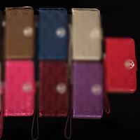 porta-moedas para iphone venda por atacado-Luxo Designer Phone Case com Lanyard Flip Carteiras Bolsas para Iphone 8 x xs max Casos Slot Para Cartão de Bolso Strass PU Titular Couro M62002